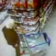 A very gross video that appears to have been taken from a security camera at a grocery store. An old woman is pushing a shopping cart, when all of a sudden, she pulls down her pants and shits right there in the grocery aisle!