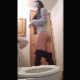 An Hispanic girl leans forward as a camera records her shitting into a toilet from behind. The turd is impossibly wide and massive. It lands with a splash. See movie 14454 for more. Presented in 720P vertical HD format. Over 1.5 minutes.