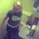 A hidden camera with no audio records a blonde woman pooping on a toilet then wiping her ass. She must have really had to go because it does not take very long for her to wipe. Looks like real voyeur material.