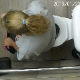 A hidden camera mounted on the ceiling of a public restroom records an unsuspecting girl taking a runny shit into a toilet. Poop action is clearly seen! Presented in 720P HD quality. About 2 minutes.