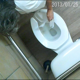 A ceiling mounted hidden camera records a mature, older woman with gray hair as she takes a piss and a shit in a public restroom toilet. Audio is not loud, but product is seen in bowl when she stands up. Over 1.5 minutes.