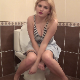 A very pretty blonde girl pisses and grunts while sitting on a toilet. She manages to cut a small fart, even though she appears to be making fake fart sounds. Basically a glorified pee video with a lot of straining. 720P HD. Over 10 minutes.
