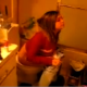 A cute girl allows her friend to videotape her peeing on the toilet.