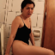 Peteuse takes a shit into a toilet in 2 different scenes while on vacation in Buenos Aires. Great plopping and crackling sounds, and a nice side view perspective. She comments on the smell. No finished product shown. About 5 minutes.