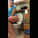 A girl records herself shitting while sitting on a toilet in 3 scenes. She lifts her ass so the poop action is visible. She shows us her product in the toilet. A 4th bonus scene taken from Ploppage 2 is included. About 11 minutes.