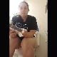 A plump girl is seen sitting on a toilet unpacking a camera tripod. The scene shits to a between the legs perspective of the same girl shitting into a toilet. Presented in 720P vertical HD format. Over 5.5 minutes.