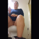 A plump girl records herself pissing while sitting on a toilet from a between the legs, POV perspective. Some farts are heard as well. Peeing only. Presented in 720P vertical HD format. About a minute.