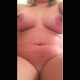 A plump, blonde woman massages her cramping stomach while sitting on a toilet. Vertical format video. This a long, drawn out constipation clip with no pooping sounds, so we made it a freebie. Over 8 minutes.