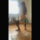 A German girl with a great body performs a pole dance, then takes a piss and a shit into glass bowls. Presented in 720P vertical HD format. 173MB, MP4 file. About 10 minutes.