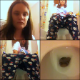 A brunette girl video records herself taking a shit and wiping her ass while sitting on a toilet in at least 6 scenes and pees in 2 additional scenes. 16.5 minutes.