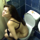 A pretty girl is recorded taking a gassy, wet-sounding shit while sitting on a toilet. She complains of stomach cramps and wipes her ass when finished. Product briefly seen when she stands up. About 5.5 minutes.