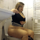 A plump, Eastern-European woman sits down on a toilet. Crystal-clear plops and stomach gurgling is heard, but it sounds dubbed-in due to the extreme clarity. Presented in 720P HD. Over 6 minutes.