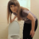 Bulgarian beauty, Hot Poison vapes and concentrates deeply on her smartphone tasks while sitting on a toilet taking a piss and a shit. Farts and plops are heard. No product shown. Presented in 720P HD. Over 5.5 minutes.