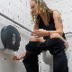 A very pretty blonde girl records herself taking a shit in a public restroom toilet. Loud farting and wet poop sounds are clearly heard, and she wipes her ass. No product shown. Presented in 720P HD. About 3.5 minutes.