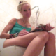 A pretty, blonde, Eastern-European girl sits down on a toilet, cuts an airy fart, reads a magazine, takes a piss and a shit with multiple, small plops. She wipes her ass while standing. Presented in 720P HD. About 5 minutes.