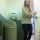 A hidden camera set up in a fast food public restroom records an attractive girl pissing while bending over a toilet. No pooping in this video. Over 2 minutes.