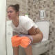 A pretty, Russian girl takes a piss and shit while sitting on a toilet. Peeing and plops are heard at the same time. She shows us the turds in the toilet, then wipes her ass and shows us the dirty TP. 720P HD. 183MB, MP4 file. Over 10.5 minutes.