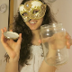 An attractive American girl wearing a mask records herself pissing and shitting into a glass jar. Nice video! 720P HD. 197MB, MP4 file. Over 10.5 minutes.