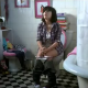 A staged video, but the girl looks cute on the toilet supposedly taking a shit. A commercial for the 2008 AXN Film Festival.