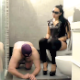 A masked Italian girl takes a shit onto the face of her male slave friend in his bathroom. Somewhat graphic. Presented in 720P HD. About 7.5 minutes.