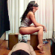 After a night on the town shopping at high-end clothing stores, 2 Spanish girls take turns shitting on the face of a masked man lying beneath a makeshift potty chair. Poop action shown from 3 perspectives. 720P HD. 153MB, MP4 file. Over 10 minutes.
