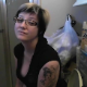 A cute, blonde girl with short hair, tattoos and glasses talks to the camera as she takes a piss and shit while sitting on a toilet. Dirty TP and finished product shown. About 4.5 minutes.