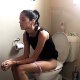 A skinny girl sits down on a toilet and takes a shit with clearly audible, multiple plops, followed by pissing. Nice, natural video. Presented in 720P HD. About 4 minutes.