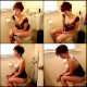 An attractive girl with short hair shits while sitting on a toilet in multiple scenes. About 38 minutes. 453MB, MP4 file requires high-speed Internet.