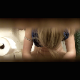 A hidden camera in a bathroom records a blonde girl with a pony tail taking a shit while sitting on a toilet. She appears to have some stomach cramps while pooping and wipes her ass repeatedly. Exactly 3 minutes.