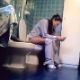 A hidden camera records an unsuspecting girl farting, pissing, and finally shitting while sitting on a toilet. Audible, but subtle plops are heard. She speaks, but appears to be only talking to herself. About 4 minutes.