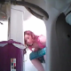 A hidden camera positioned below a bathroom sink records an unsuspecting girl taking a piss and a shit while sitting on a toilet. Big, heavy plops are clearly heard. Over 2 minutes.