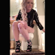 A pretty blonde girl takes a piss and a crackling, soft shit while sitting on a toilet wearing high-heeled sandals. 720P vertical HD format video. Over 3 minutes.