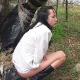 A dark-haired, Eastern-European woman takes a shit in outdoor locations in 2 scenes. 174MB, MP4 file. Exactly 11.5 minutes.
