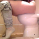 A girl is recorded from the waist down as she takes a noisy, wet, explosive shit and a piss while sitting on a toilet. Audio is clear, but slightly slower frame rate video quality. About 3 minutes.