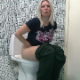 A mature, blonde woman sits down on a toilet, farts repeatedly, and takes a wet-sounding shit as the result of eating spicy food earlier. Presented in 720P HD. About 4 minutes.
