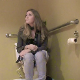 An attractive girl is recorded farting and taking a shit while sitting on a toilet. The fart is loud, but pooping cannot really be heard. She wipes her ass, and her finished product is shown in the toilet bowl. About 4 minutes.