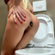 A blonde woman stands beside a toilet while taking a massive shit. She straddles the toilet and pisses as well. Product is shown in the toilet bowl while flushing. Presented in 720P HD. Over 3.5 minutes.