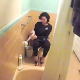 Somebody set up a hidden camera in the bathroom to record his attractive stepmom pissing in a couple of scenes. Some weird, slow-motion editing is seen a couple of times. Over 2.5 minutes.