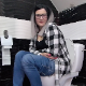 A plump, Eastern-European girl wearing glasses sits on a toilet, takes a long piss, and immediately shits with a cluster of soft-sounding, sloppy plops at the same time. She tries to push more out with an extra plop. Presented in 720P HD. Over 6 minutes.