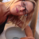 In one of her best clips yet, an attractive blonde woman tells us how she can barely hold it anymore and proceeds to take a massively long shit into a toilet. Poop action is visible from between the legs. Amazing product! 720P HD. About 4.5 minutes.