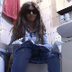 A mature, Italian woman wearing sunglasses sits on a toilet while vaping. Poop action is clearly shown from a close & nasty perspective behind her ass. Some pissing. She wipes and shows us the contents of the toilet bowl. 720P HD. About 5.5 minutes.