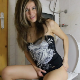 A pretty Bulgarian girl is wearing a swimsuit figures out how to use a toilet without undressing. She farts repeatedly, pisses, and shits a small amount. Presented in 720P HD. 102MB, MP4 file. About 8 minutes.