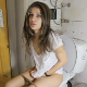 A pretty Bulgarian girl quickly sits down on a toilet and starts shitting. Wet plops are heard, followed by some pissing. She wipes, but then sits down on the toilet 2 more times with explosive diarrhea. 720P HD. 110MB, MP4 file. About 10 minutes.
