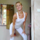 An attractive, blonde, European girl shows off her ass while wearing sweatpants. She bends over, soils them, then shows off her filthy, shit-caked ass. Presented in 720P HD. 113MB, MP4 file. About 7.5 minutes.