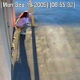 A security camera records a woman taking a shit and a piss by the side of a building and then wiping herself. No poop sounds, but music was added in for humor.