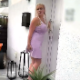 A tattooed, blonde, European girl leaves her house to go throw out some trash, but she is locked out upon her return. Desperate to use the bathroom, she just pisses and shits on her own doorstep. Presented in 720P HD. About 2 minutes.