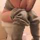 A Bulgarian girl sits down on a toilet, vapes, pisses, farts, and takes a shit that starts off with some solid, loud plops. Things start to get really soft, and loose-sounding runs follow. Presented in about 720P HD. 165MB, MP4 file. Over 21 minutes.