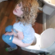 A pretty, blonde, Australian girl sits on a toilet, pisses and struggles to take a stubborn shit. Small plops are heard. She shows us her asshole, pushes more, but is too constipated to finish. 720P HD. 192MB, MP4 file. Over 8 minutes.