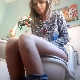 A cute, blonde, Australian girl moans and groans as she sits down on a toilet. Shortly thereafter, many hard plops are heard as she takes a shit. Some pissing, too. She wipes her ass when done. Presented in 720P HD. 205MB, MP4 file. About 7 minutes.