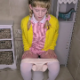 A cute, blonde, Australian girl takes a piss, pushes noisily, if not overly dramatic, and takes a shit with staggered hard plops. She discovers there is no toilet paper left, so she pulls her pants up without wiping. 720P HD. 156MB. Over 6 minutes.
